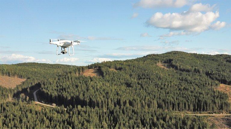 Drone i arbeid_Foto Stefano Puliti NIBIO.jpg
